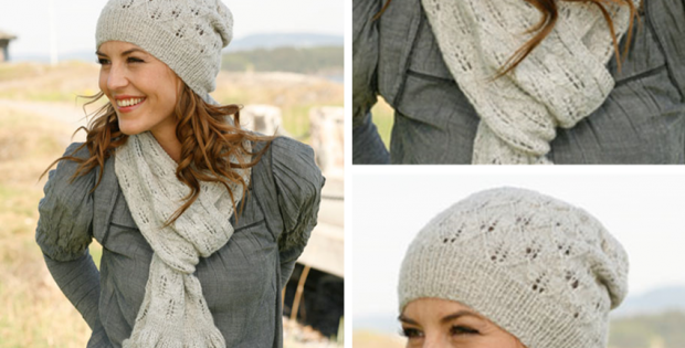 Sweet Caroline Knitted Scarf And Hat Free Knitting Pattern