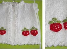sweet strawberry knitted cardigan | the knitting space