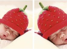 sweet strawberry knitted hat | the knitting space
