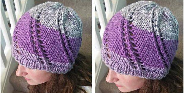 Sweet Swirl Knitted Rib Hat  PAID Knitting Pattern  58a0b36afd8