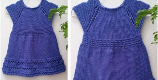 Sweet Wee Penny Knitted Dress Free Knitting Pattern