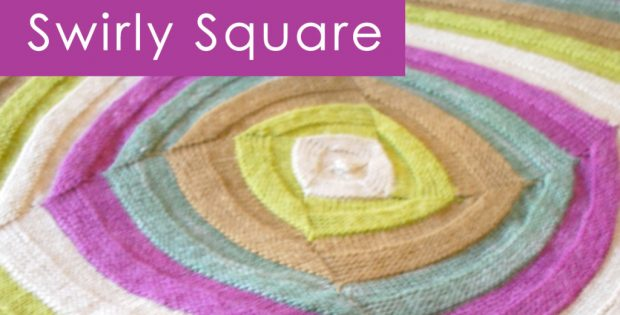 knitted swirly square stitch pattern | the knitting space