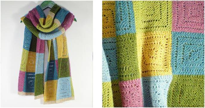 Syrian Squares Knitted Shawl [FREE Knitting Pattern]