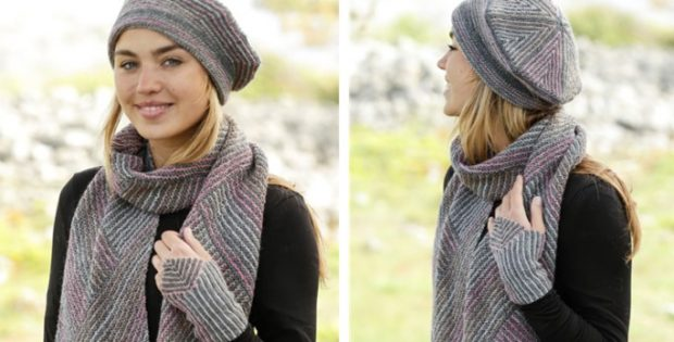 Tara Knitted Beret And Scarf Free Knitting Pattern