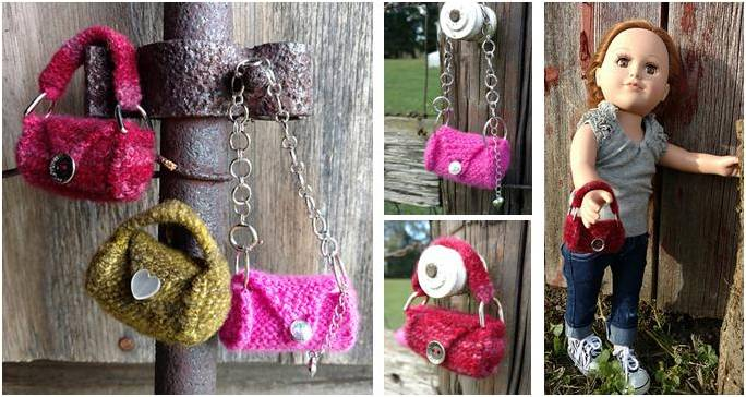 Teeny Mini Knitted Doll Accessory Free Knitting Pattern