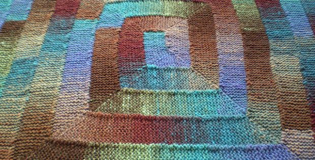 Fun Ten Stitch Knitted Blanket Free Knitting Pattern