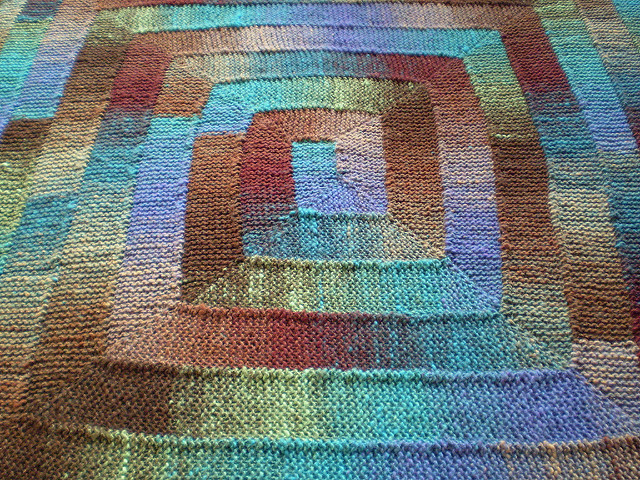 Knit Stitch Blanket Pattern : Fun Ten Stitch Knitted Blanket [FREE Knitting Pattern]