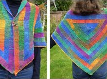 ten stitch triangular shawl | the knitting space