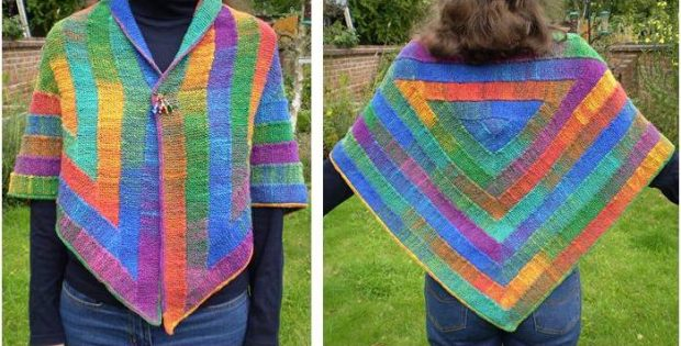 Ten Stitch Triangular Shawl Free Knitting Pattern