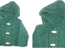 Thora knitted hooded cardigan | the knitting space