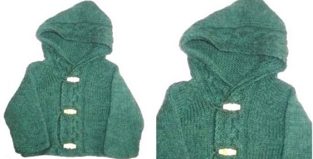 Thora Knitted Hooded Cardigan Free Knitting Pattern