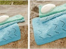 tidy tides knitted washcloths | the knitting space