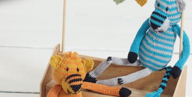 Knit Tigers From Noah\'s Ark [FREE Knitting Pattern]