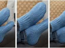 time-off knitted slipper socks | the knitting space
