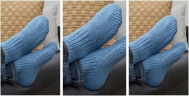 Time Off Knitted Slipper Socks Free Knitting Pattern