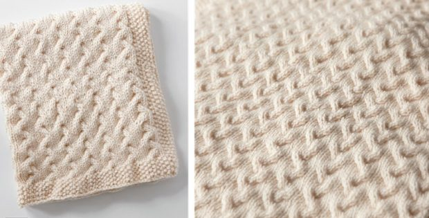 Ripples Knitted Baby Blanket Free Knitting Pattern