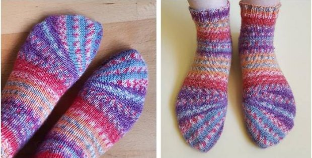 tiptop Tipsy Toe knitted socks | the knitting space