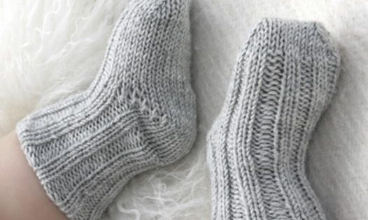 Traditional Knitted Baby Socks Free Knitting Pattern