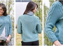 traveling buds knitted cardigan | the knitting space
