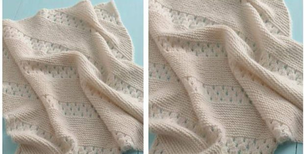 Treasured Heirloom Knitted Baby Blanket Free Knitting Pattern