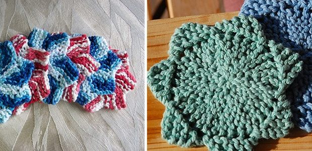 Twinkle Knitted Star Coasters Free Knitting Pattern