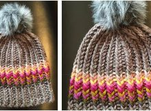 twisted ribster knitted hat | the knitting space