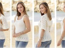 two-piece knitted lace set | the knitting space