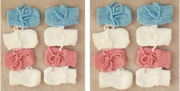 Ultra Adorable Knitted Baby Mittens Free Knitting Pattern
