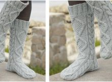 ultra comfy knitted cable socks | the knitting space