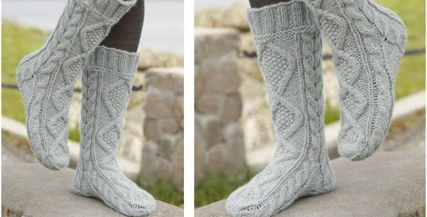 Ultra Comfy Knitted Cable Socks [Free Knitting Pattern] Extraordinary Knitted Socks Pattern Free