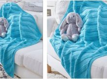 ultra cuddly knitted baby blanket | the knitting space