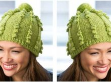 ultra cute bobble knitted hat | the knitting space