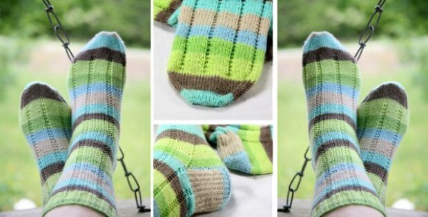 knitted vanilla latte socks | the knitting space