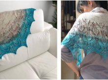 vibrant Vanesse knitted shawl | the knitting space