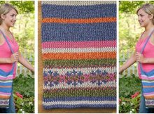 vibrant fair isle knitted bag | the knitting space
