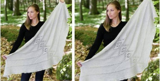 viking spirit knitted shawl | the knitting space