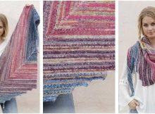 vivacious knitted stripy shawl | the knitting space