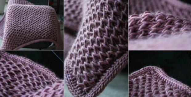 Knitted Squishy Waffle Blanket Free Knitting Pattern