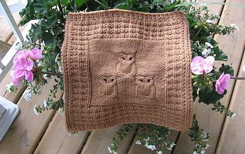 Knit Waffling Owls Free Knitting Pattern