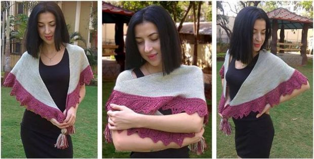 lovely walk together knitted shawl | the knitting space