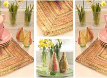 warm rays knitted table set | the knitting space
