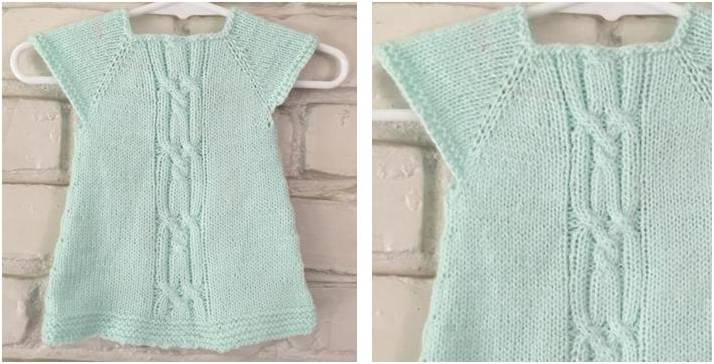 Wee Kizzy Knitted Baby Dress  FREE Knitting Pattern  45af427ef
