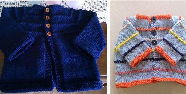 Wee Bean Knitted Baby Cardigan Free Knitting Pattern
