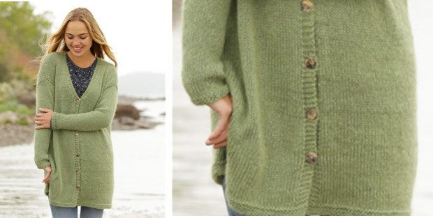 Knitting Pattern Weekend Cardigan : Weekend Walk Knitted Cardigan [FREE Knitting Pattern]