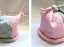 whimsical knitted top knot hat | the knitting space