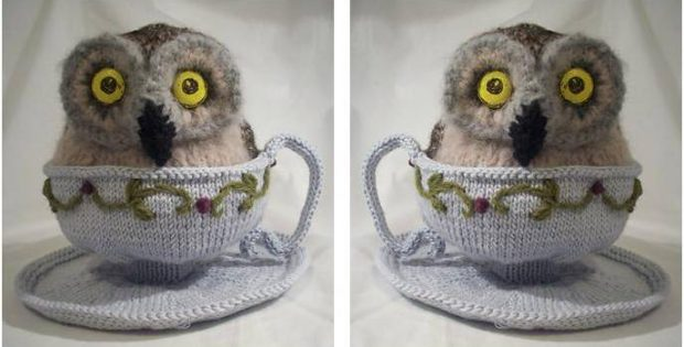 whimsical knitted teacup owl | the knitting space