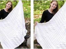 white sands knitted blanket | the knitting space