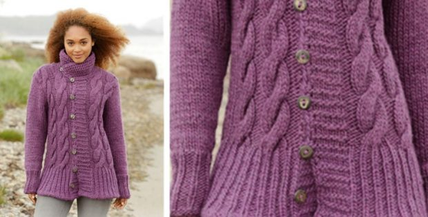 Winter Orchid Knitted Jacket [FREE Knitting Pattern]