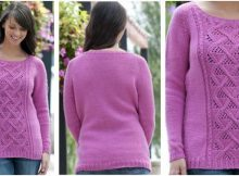 winter rose knitted sweater | the knitting space
