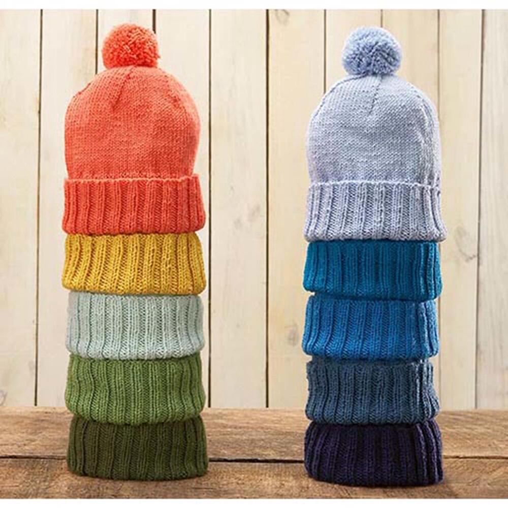 Colorful Knitted Winter Hats Free Knitting Pattern